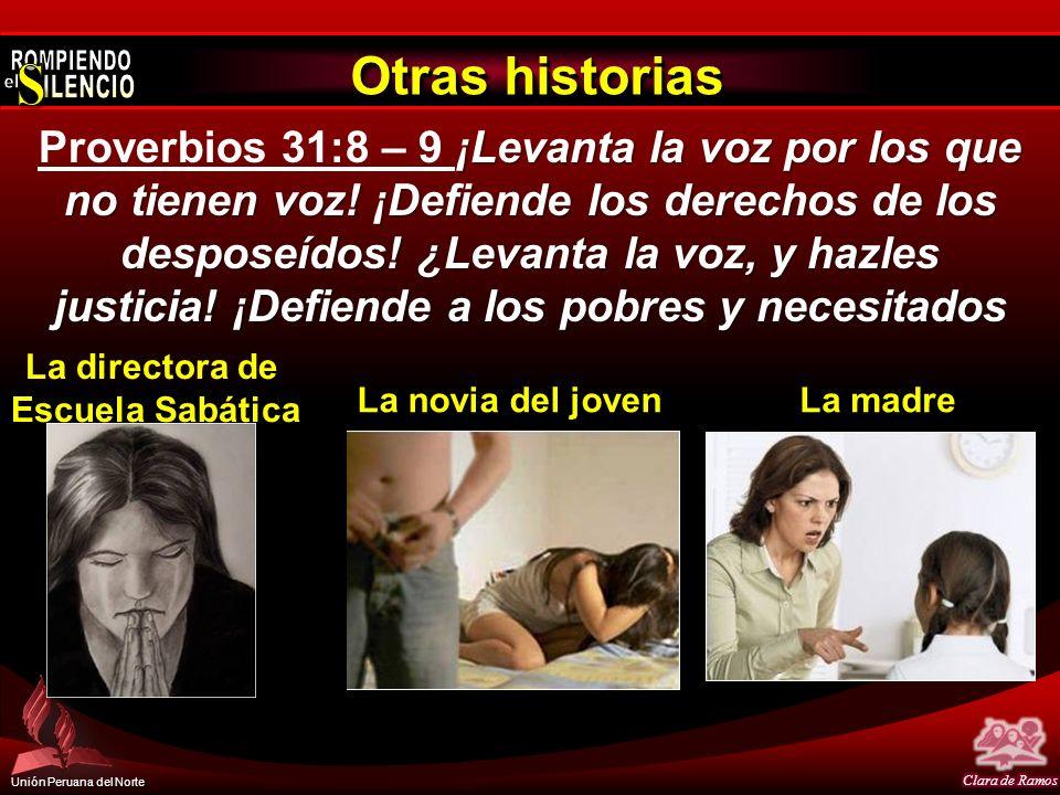 Unión Peruana del Norte Otras historias ¡Levanta la voz por los que no tienen voz! ¡Defiende los derechos de los desposeídos! ¿Levanta la voz, y hazle