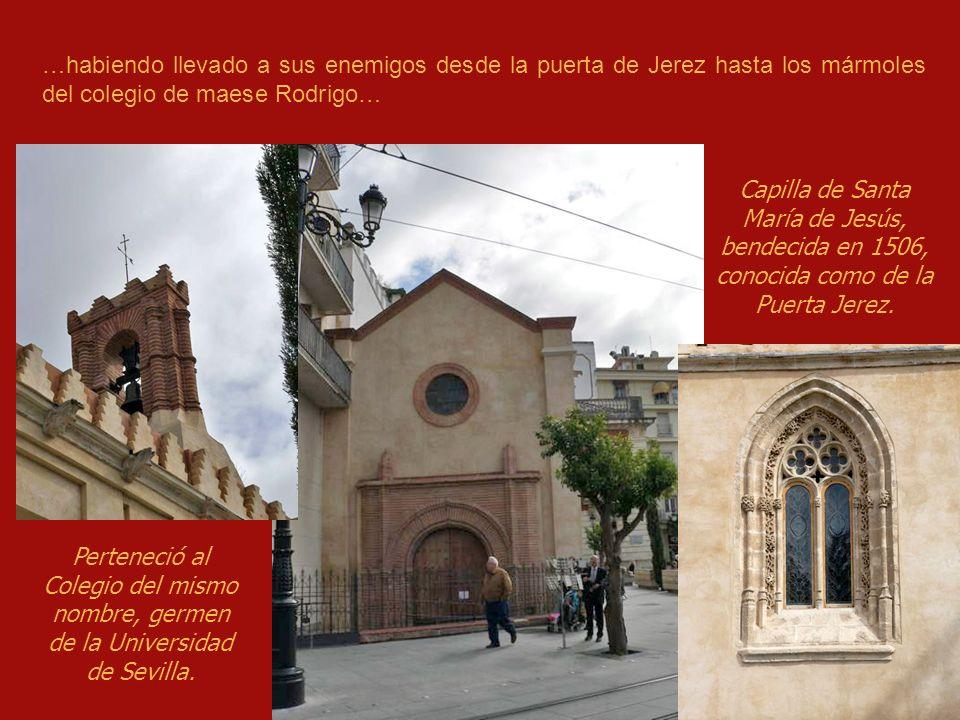 Un día acometió en la puerta de Jerez, el sólo, a seis famosos rufianes…