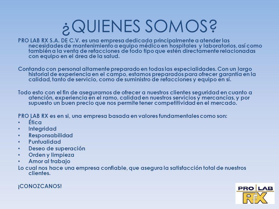 NOS ES MUY GRATO SOMETER A SU AMABLE CONSIDERACIÓN LOS SERVICIOS QUE OFRECE NUESTRA EMPRESA EN RELACIÓN AL MANTENIMIENTO, REPARACIÓN, COMPRA-VENTA Y REFACCIONES DE EQUIPO MÉDICO PARA INSTITUCIONES DE SALUD, TANTO DEL SECTOR PÚBLICO COMO DEL PRIVADO.