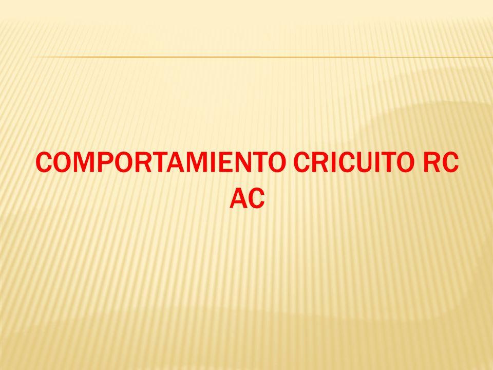 COMPORTAMIENTO CRICUITO RC AC