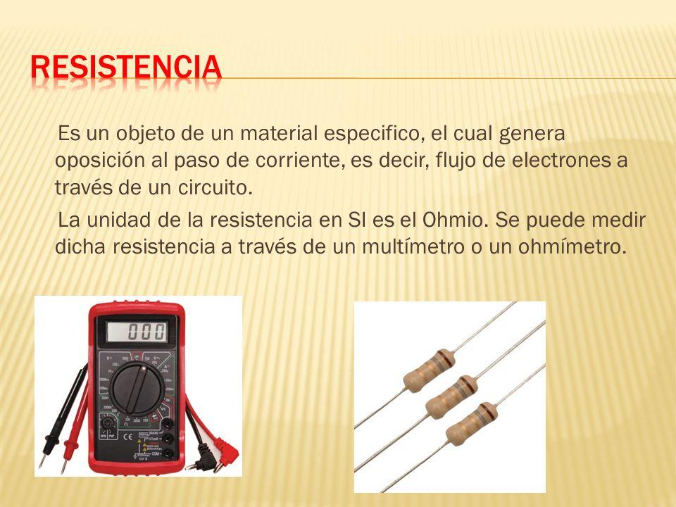 Es un objeto de un material especifico, el cual genera oposición al paso de corriente, es decir, flujo de electrones a través de un circuito.