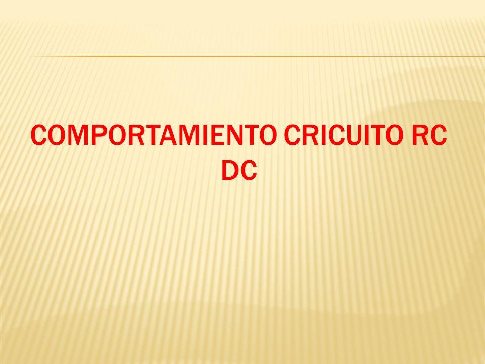 COMPORTAMIENTO CRICUITO RC DC