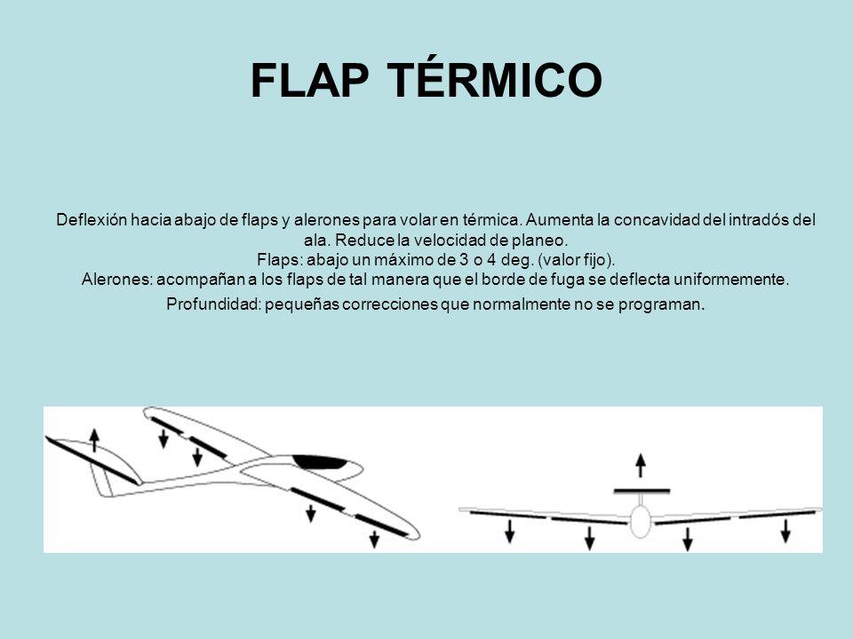 FLAP VELOCIDAD Deflexión hacia arriba de flaps y alerones.