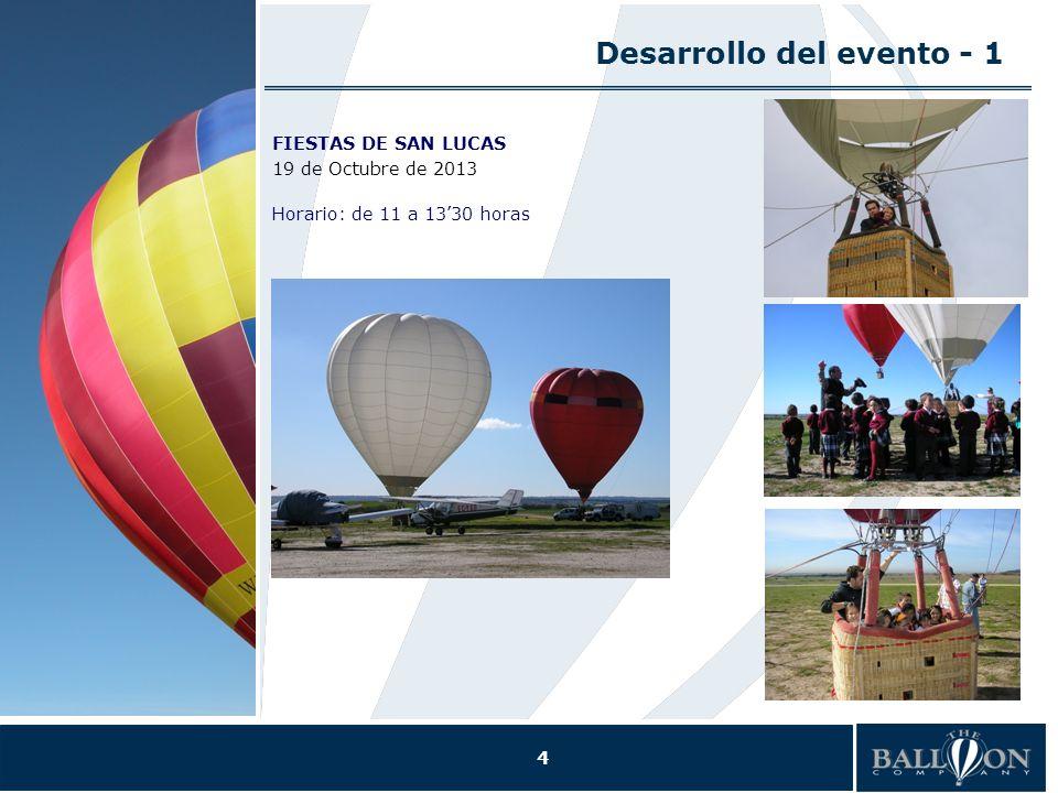 4 Desarrollo del evento - 1 FIESTAS DE SAN LUCAS 19 de Octubre de 2013 Horario: de 11 a 1330 horas