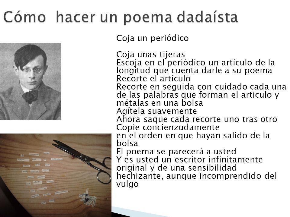 Coja un periódico Coja unas tijeras Escoja en el periódico un artículo de la longitud que cuenta darle a su poema Recorte el artículo Recorte en segui