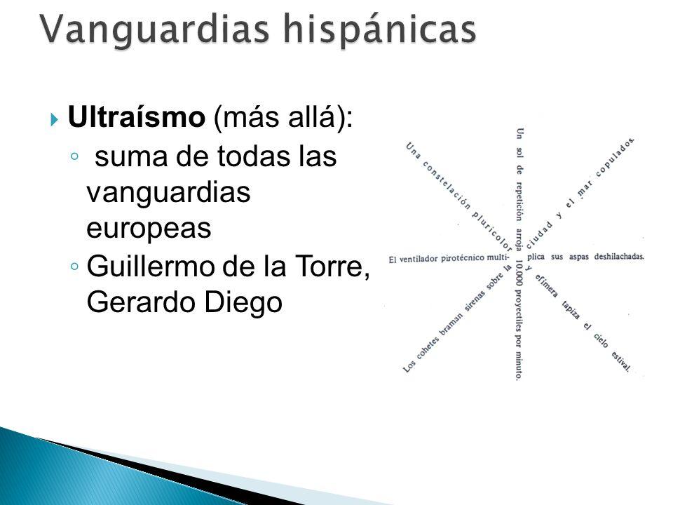 Ultraísmo (más allá): suma de todas las vanguardias europeas Guillermo de la Torre, Gerardo Diego