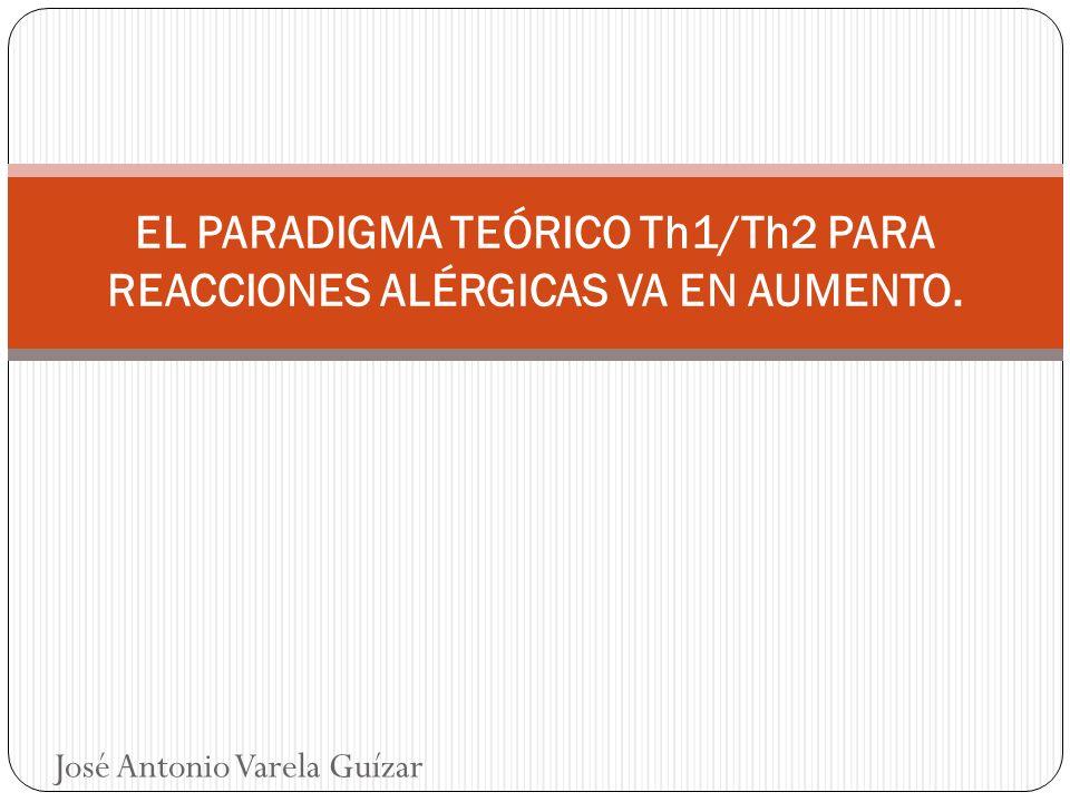 PARADIGMA Th1/Th2 Existe una correlación inversa entre los niveles de endotoxina en el polvo del hogar y la incidencia de sensibilización atópica o rinitis.