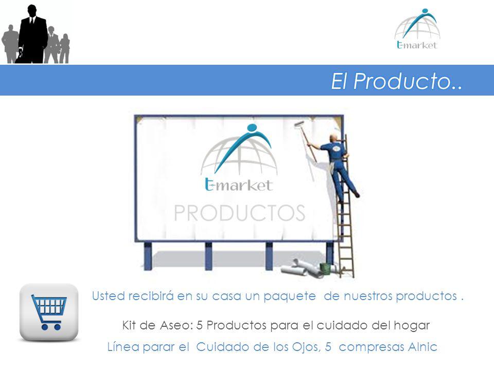 PRODUCTOS Usted recibirá en su casa un paquete de nuestros productos. Kit de Aseo: 5 Productos para el cuidado del hogar Línea parar el Cuidado de los