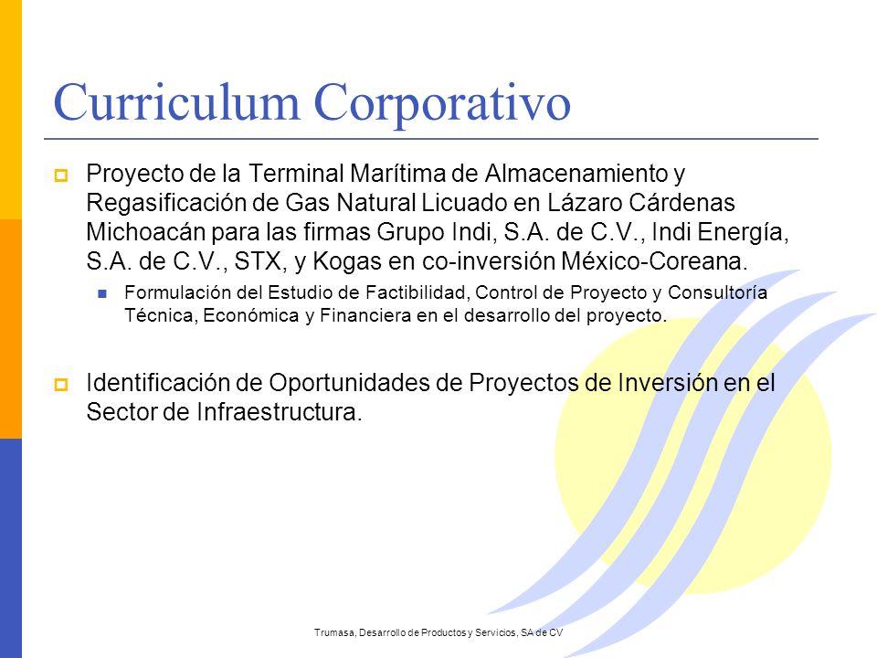 Curriculum Corporativo Proyecto de la Terminal Marítima de Almacenamiento y Regasificación de Gas Natural Licuado en Lázaro Cárdenas Michoacán para la