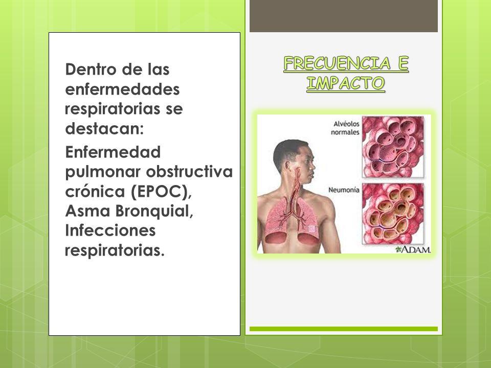 La frecuencia de las enfermedades del sistema respiratorio esta claramente constatada, ya que entre el 10% y el 15% de los ancianos presentan patología respiratoria crónica.