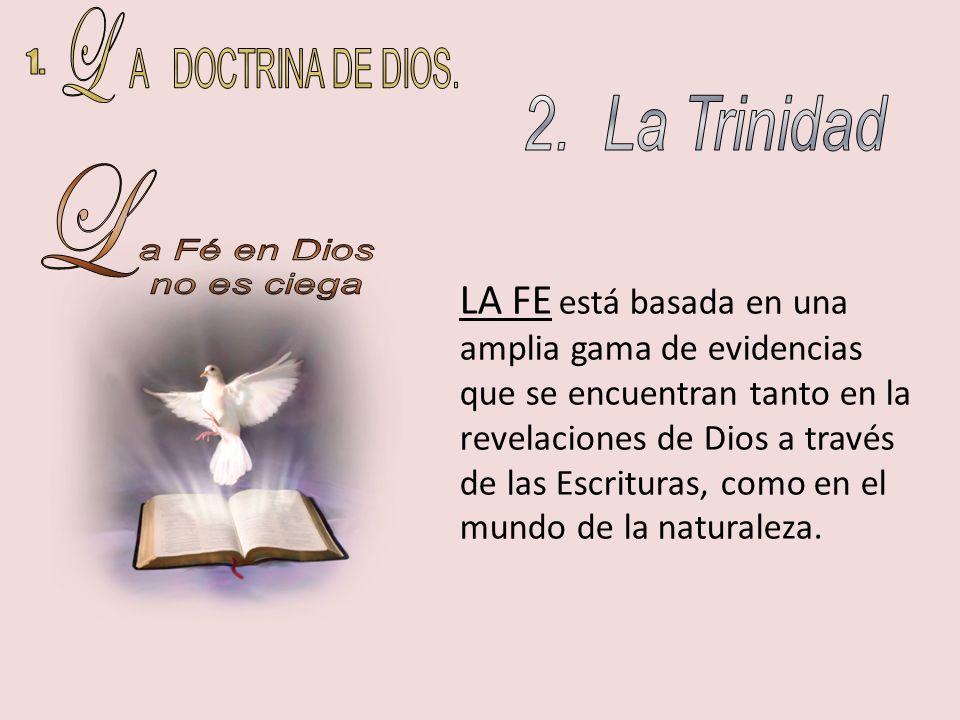 LA FE está basada en una amplia gama de evidencias que se encuentran tanto en la revelaciones de Dios a través de las Escrituras, como en el mundo de