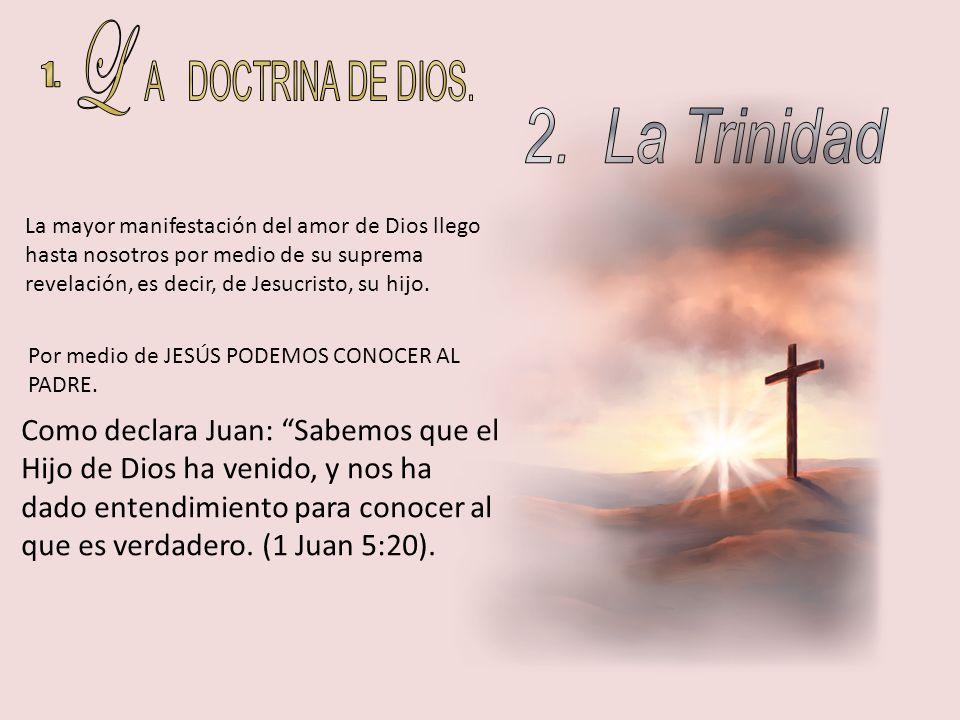 LA RELACIÓN QUE EXISTE ENTRE LAS PERSONAS DE LA DEIDAD Dios el Padre (Cáp..3) Dios el Hijo (Cáp.