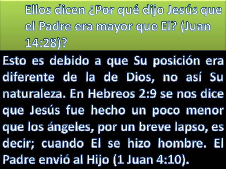 Jesús no estaba diciendo que El no fuese Dios, sino pidiéndole a quien preguntaba que reflexionase sobre lo que estaba diciendo.
