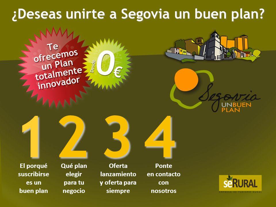 1.Impulsamos el desarrollo económico de la provincia de Segovia a través del turismo.