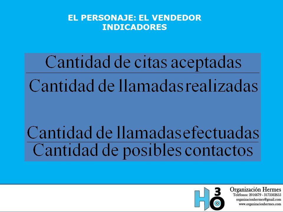 EL PERSONAJE: EL VENDEDOR INDICADORES