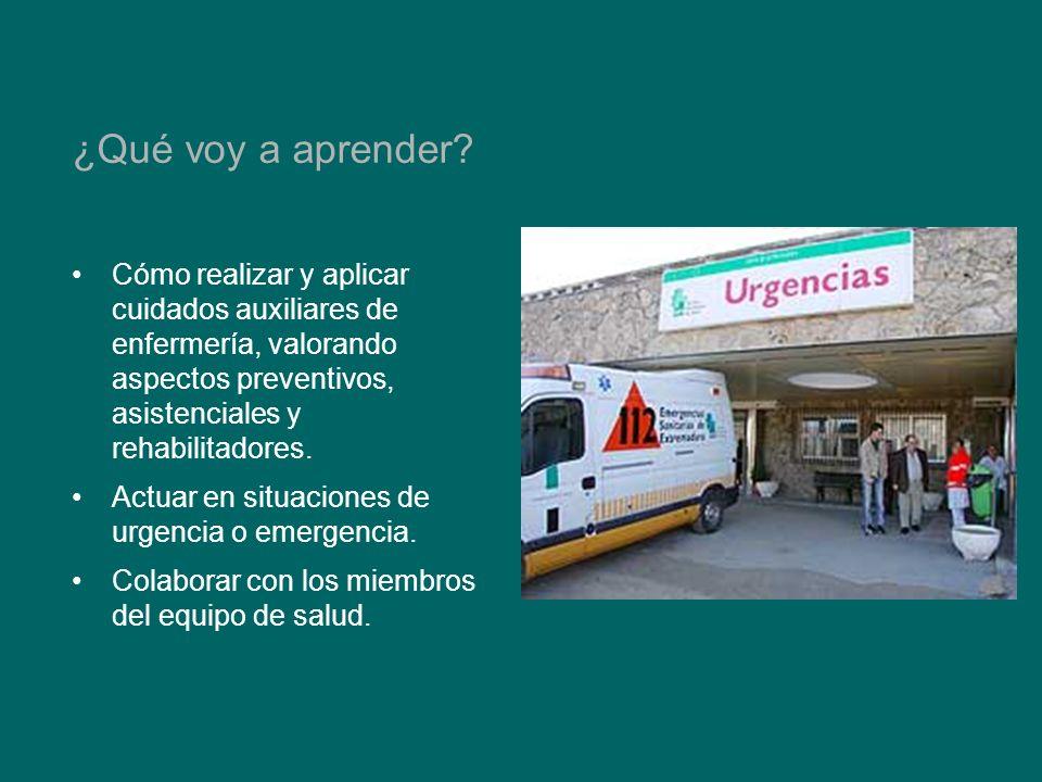 Cómo realizar y aplicar cuidados auxiliares de enfermería, valorando aspectos preventivos, asistenciales y rehabilitadores.