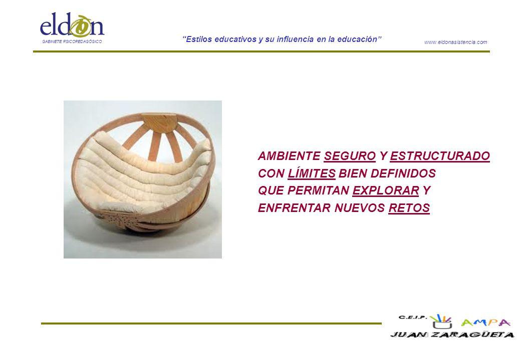 www.eldonasistencia.com Estilos educativos y su influencia en la educación GABINETE PSICOPEDAGÓGICO AMBIENTE SEGURO Y ESTRUCTURADO CON LÍMITES BIEN DE