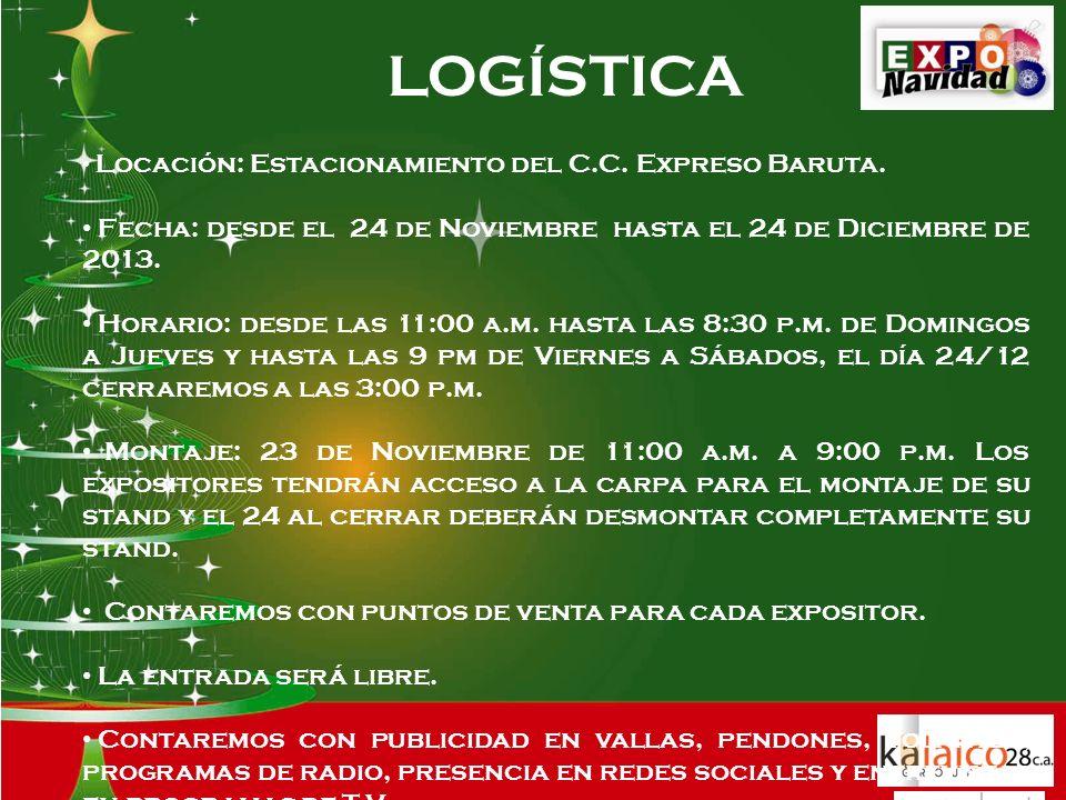 LOGÍSTICA Locación: Estacionamiento del C.C. Expreso Baruta.