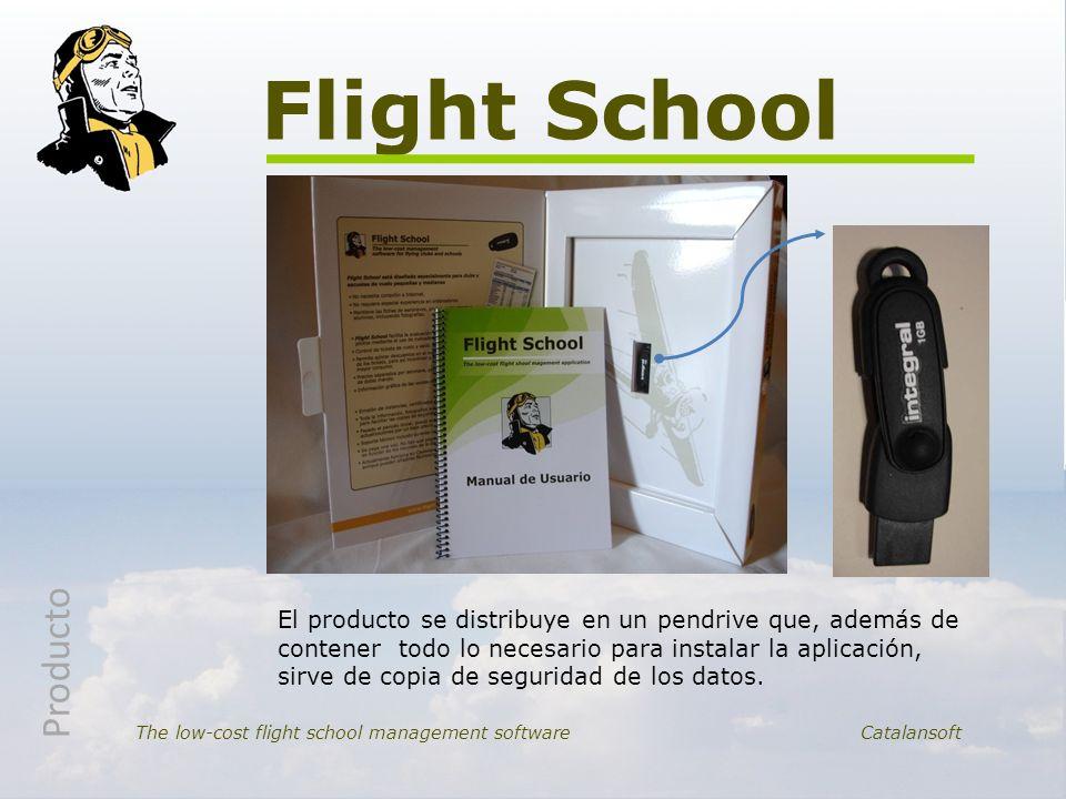 Flight School The low-cost flight school management softwareCatalansoft El producto se distribuye en un pendrive que, además de contener todo lo neces