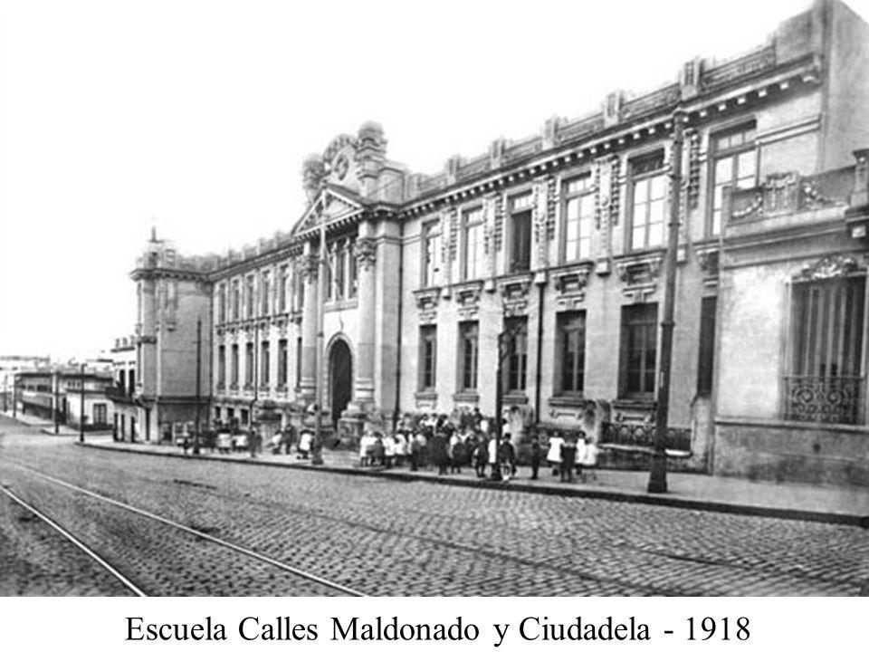 Escuela Calles Maldonado y Ciudadela - 1918