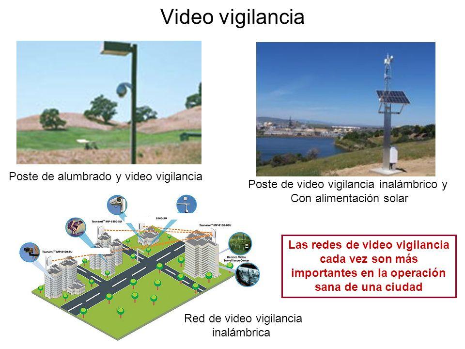 Poste de alumbrado y video vigilancia Poste de video vigilancia inalámbrico y Con alimentación solar Red de video vigilancia inalámbrica Video vigilan