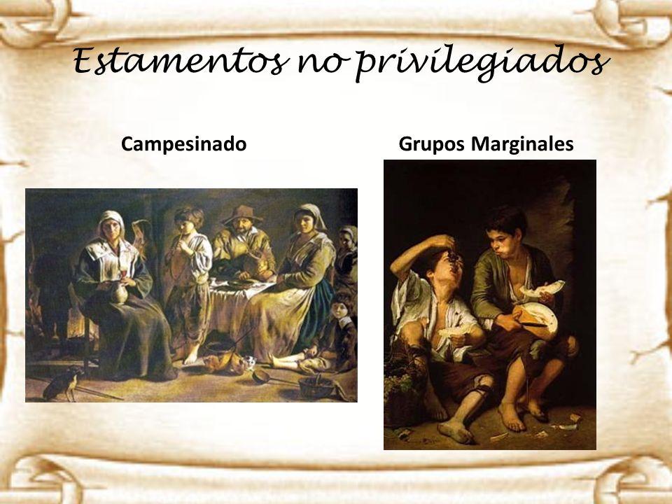 Estamentos no privilegiados Campesinado Grupos Marginales