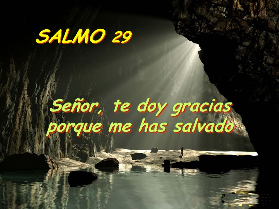 SALMO 29 Señor, te doy gracias porque me has salvado Señor, te doy gracias porque me has salvado