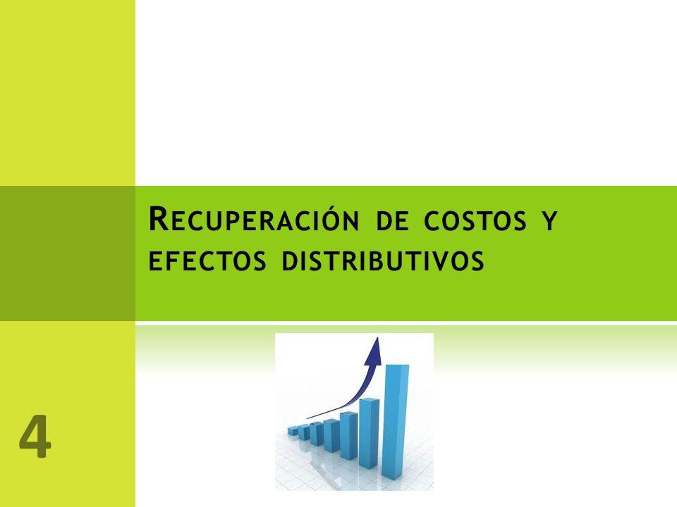 R ECUPERACIÓN DE COSTOS Y EFECTOS DISTRIBUTIVOS 4