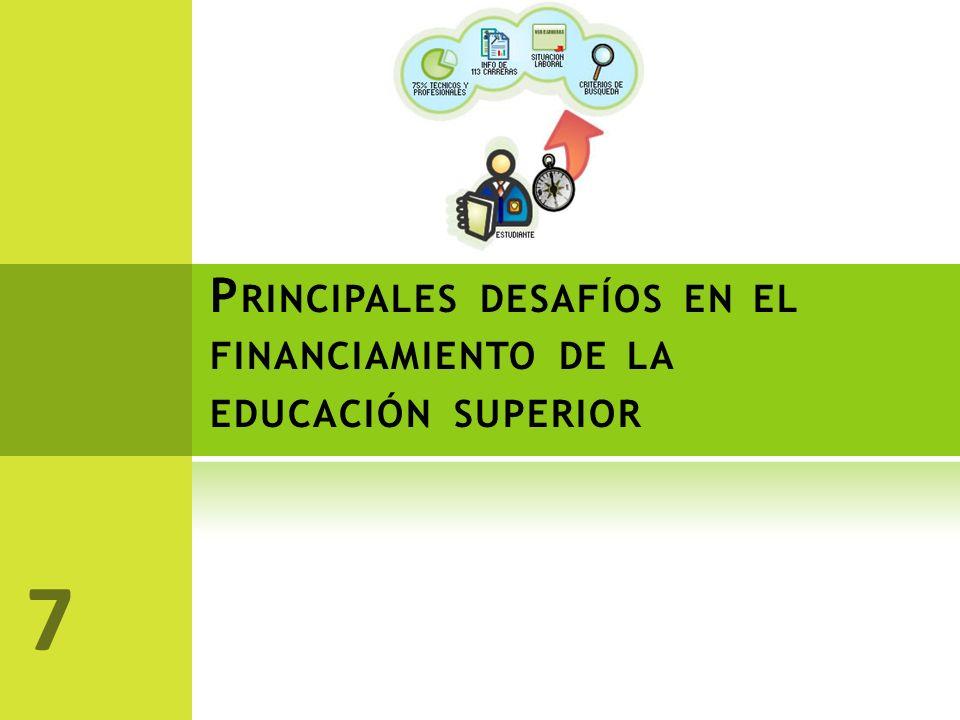 P RINCIPALES DESAFÍOS EN EL FINANCIAMIENTO DE LA EDUCACIÓN SUPERIOR 7