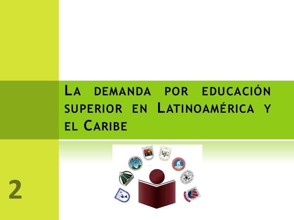 L A DEMANDA POR EDUCACIÓN SUPERIOR EN L ATINOAMÉRICA Y EL C ARIBE 2