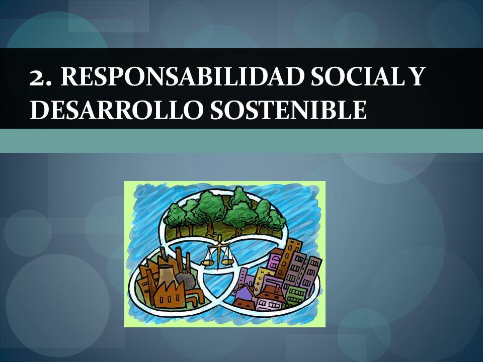 2. RESPONSABILIDAD SOCIAL Y DESARROLLO SOSTENIBLE