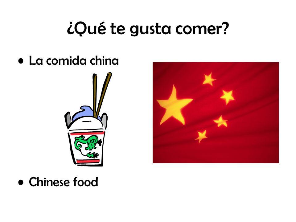 ¿Qué te gusta comer? La comida china Chinese food
