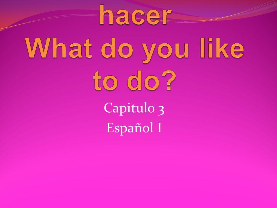 Capitulo 3 Español I