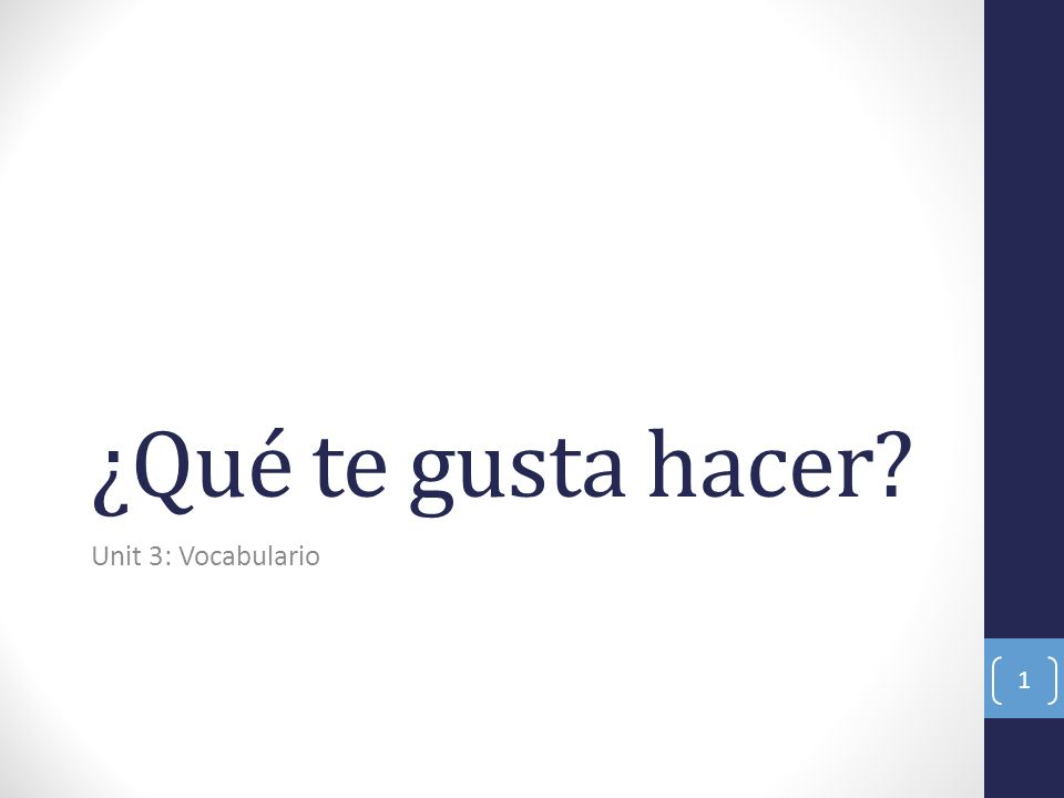 To talk about liking something ¿Qué te gusta más.: What do you like better/more.