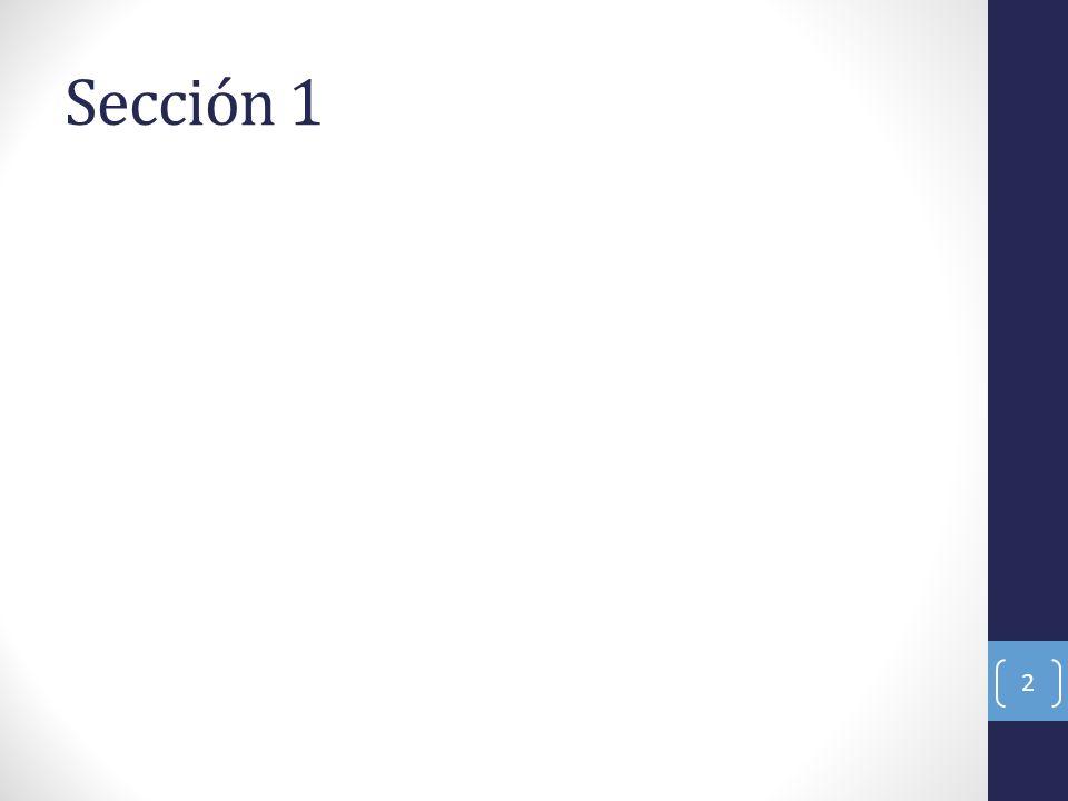 Sección 1 2