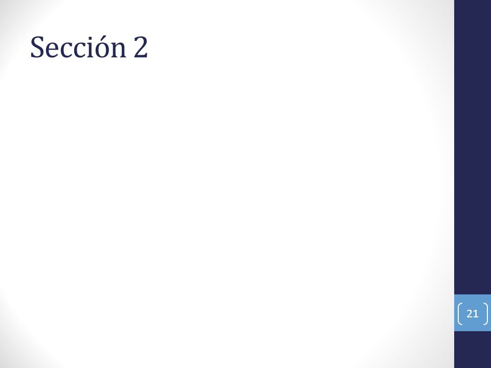Sección 2 21