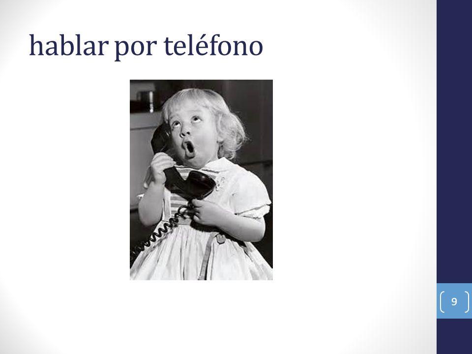 hablar por teléfono 9