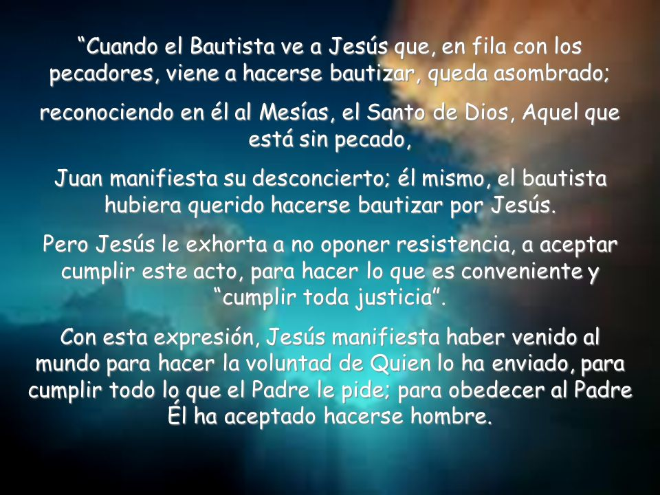 ¿Qué me dice el Señor en el texto? La liturgia de este domingo nos recuerda que Jesús, es el hijo de Dios, el que quita el pecado. Iniciemos esta medi