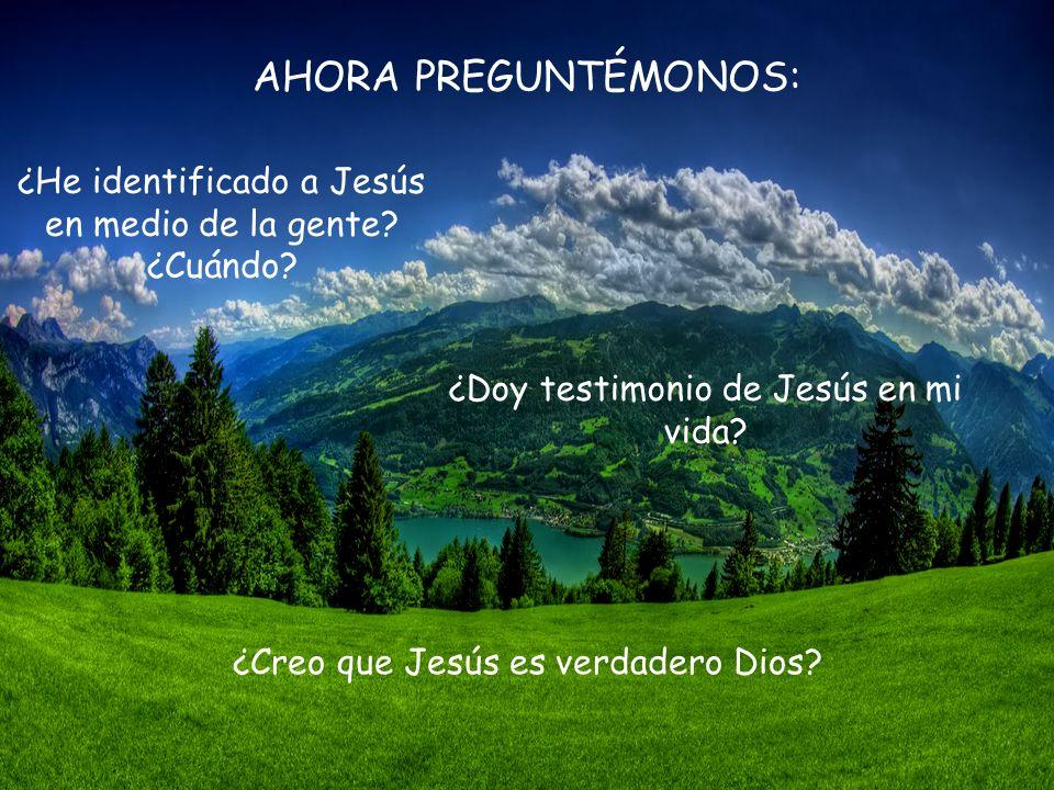 Este gesto revela sobre todo quién es Jesús; es el Hijo de Dios, verdadero Dios como el Padre; es Aquel que se ha bajado para hacerse uno de nosotros,