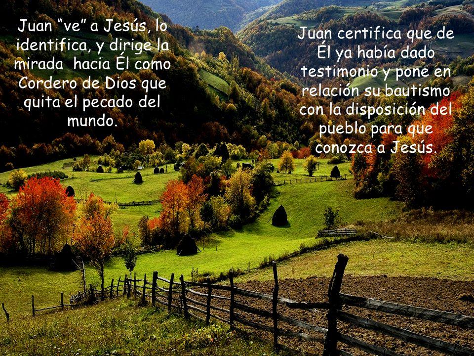¿Qué dijo Juan cuando vio a Jesús? ¿Para qué ha venido bautizando? ¿Por qué dice Juan que es testigo que Jesús es el Hijo de Dios? 1. LECTURA
