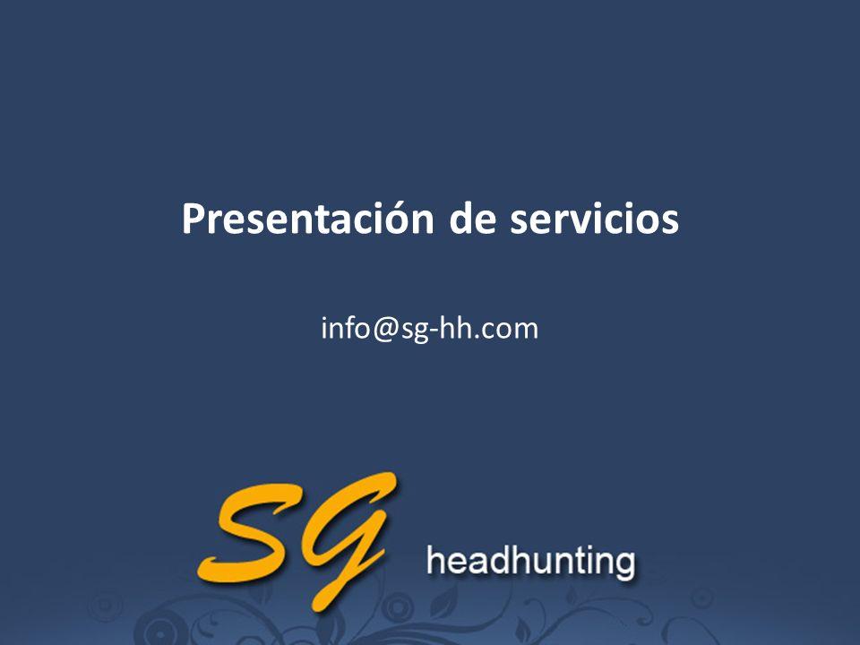 Presentación de servicios info@sg-hh.com