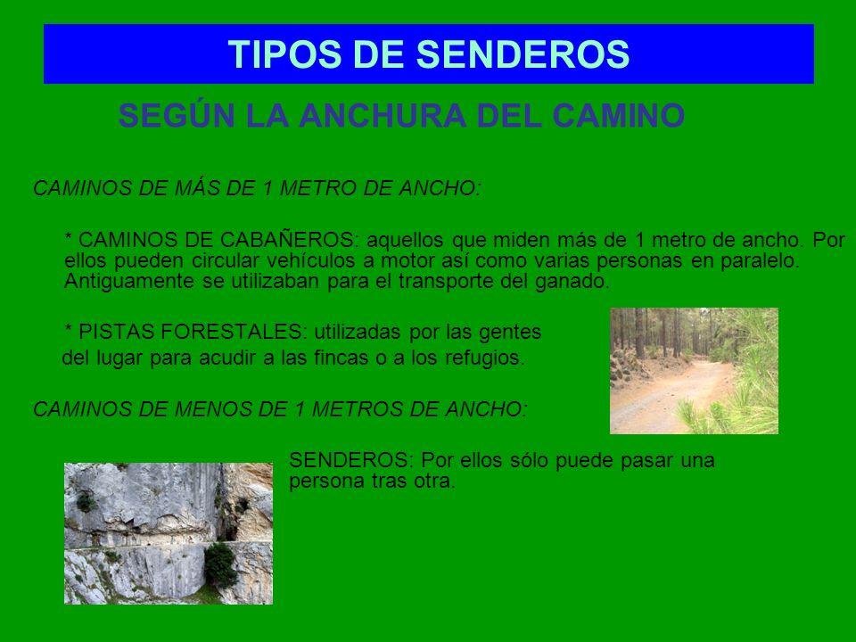 TIPOS DE SENDEROS SEGÚN LA LONGITUD DEL SENDERO: Senderos de Gran Recorrido (GR) Son rutas cuya distancia supera los 50 km.