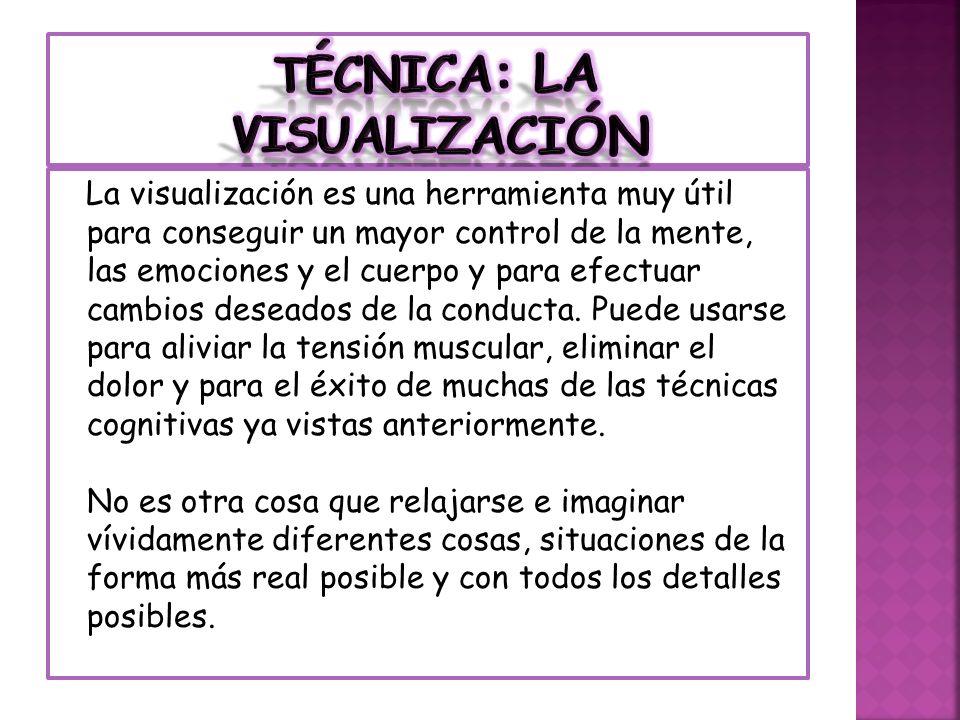 La visualización es una herramienta muy útil para conseguir un mayor control de la mente, las emociones y el cuerpo y para efectuar cambios deseados d