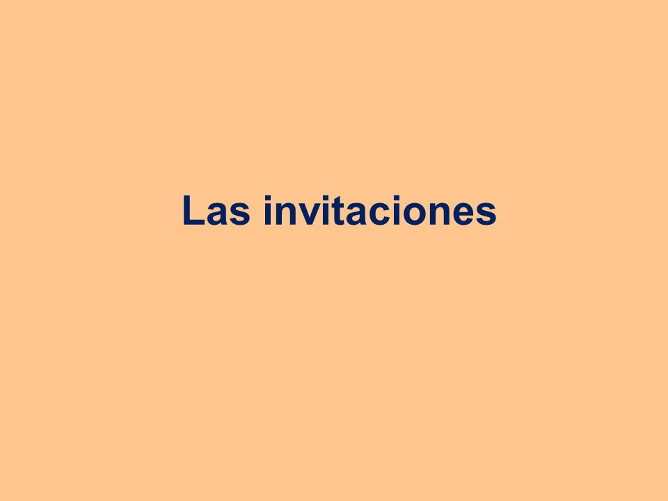 ¿Qué es una invitación.