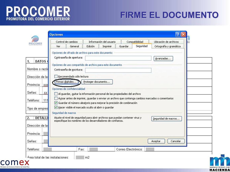 FIRME EL DOCUMENTO