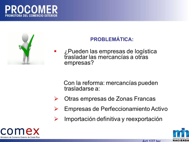 PROBLEMÁTICA: ¿Pueden las empresas de logística trasladar las mercancías a otras empresas.