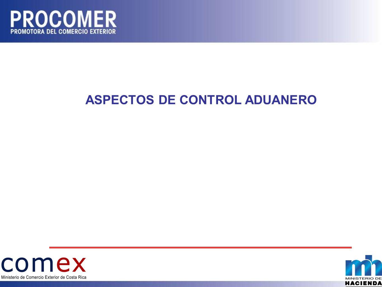 ASPECTOS DE CONTROL ADUANERO