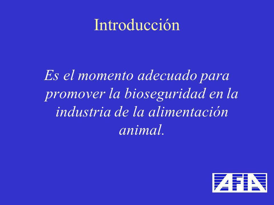 Es el momento adecuado para promover la bioseguridad en la industria de la alimentación animal. Introducción