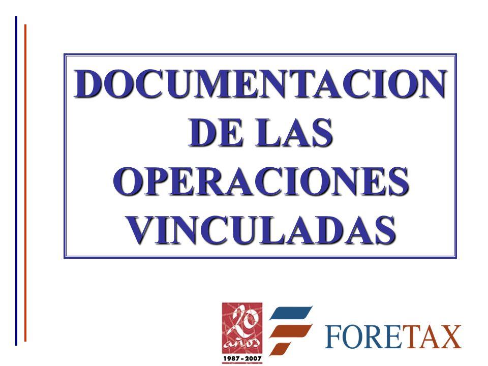 DOCUMENTACION DE LAS OPERACIONES VINCULADAS