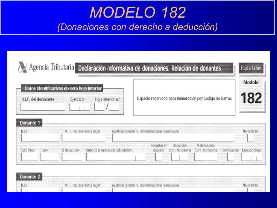 MODELO 182 (Donaciones con derecho a deducción)